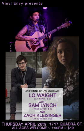 Lo Waight, Sam Lynch, Zach Kleisinger @ Vinyl Envy Apr 26 2018 - Dec 13th @ Vinyl Envy