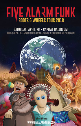 Five Alarm Funk, The Gaff @ Capital Ballroom Apr 28 2018 - Dec 9th @ Capital Ballroom