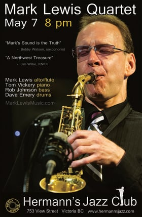 Mark Lewis Quartet: Tom Vickery, Rob Johnson and Dave Emery @ Hermann