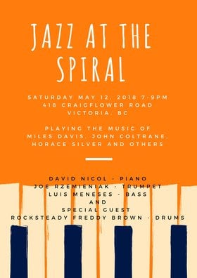 Jazz at the Spiral @ Spiral Cafe May 12 2018 - Jan 15th @ Spiral Cafe