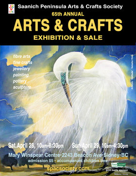 SPAC 65th Annual Arts & Crafts Exhibition & Sale @ Mary Winspear Centre, 2243 Beacon Avenue, Sidney, BC V8L 1W9 Apr 29 2018 - Dec 13th @ Mary Winspear Centre, 2243 Beacon Avenue, Sidney, BC V8L 1W9