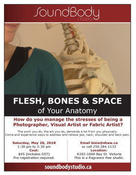 Flesh, Bones & Space of Your Anatomy: Bisia Belina, All attendees  (Photographers, Visual Artists, Fabric Artists) @  May 26 2018 - Feb 19th @