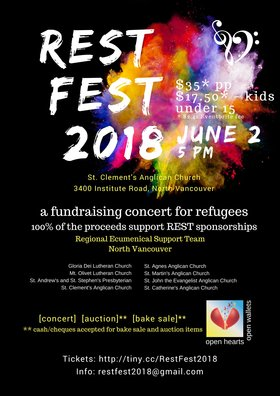 REST FEST 2018: Stephen King, Lynley Lewis @ St. Clement's Anglican Church Jun 2 2018 - Nov 17th @ St. Clement's Anglican Church