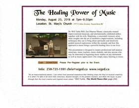 The Healing Power of Music: Dr. Will Tuttle PhD  (improvisational pianist, world-renowned author), Madeleine Tuttle  (visionary artist) @ St. Mary
