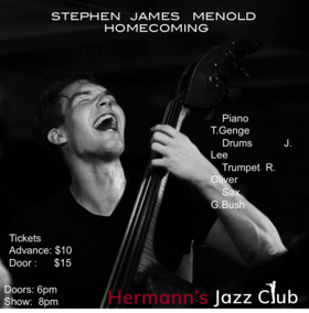 Stephen Menold Quintet: Tony Genge piano Ryan Oliver Sax John Lee Drums Greg Bush Trumpet @ Hermann