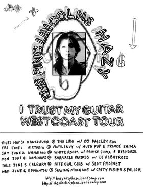 I Trust My Guitar - West Coast Tour: Hush Pup, Prince Shima, HAZY, The Pinc Lincolns  @ Vinyl Envy Jun 1 2018 - Jan 15th @ Vinyl Envy