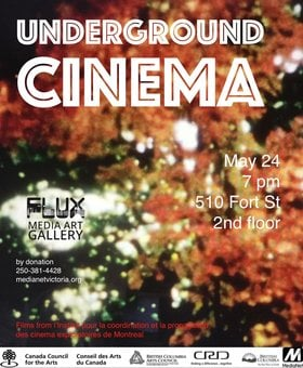 Underground Cinema @ FLUX MEDIA GALLERY May 24 2018 - Jan 15th @ FLUX MEDIA GALLERY