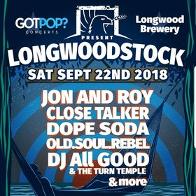 Jon and Roy, Close Talker, Dope Soda @ Longwood Brewery Sep 22 2018 - Aug 25th @ Longwood Brewery