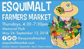 Esquimalt Farmers Market: Esquimalt Ukelele Club, Morien Jones, Little Crow, Steve Palen @ Memorial Park  May 24 2018 - Dec 12th @ Memorial Park