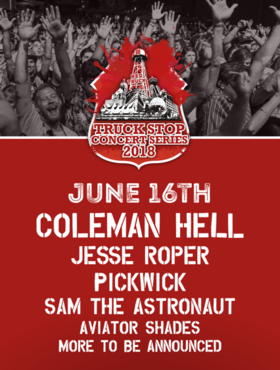 Jesse Roper, Coleman Hell, Pickwick @ Red Truck Concert Series Jun 16 2018 - Jan 22nd @ Red Truck Concert Series