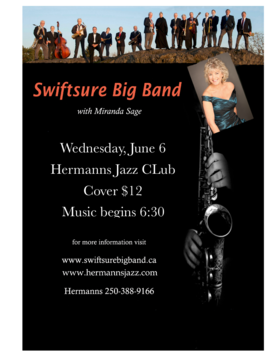 Swiftsure Big Band with Miranda Sage @ Hermann