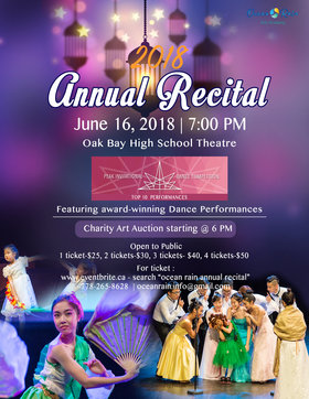 Ocean Rain Annual Recital @ Dave Dunnet Community Theatre (Oak Bay High School) Jun 16 2018 - Dec 11th @ Dave Dunnet Community Theatre (Oak Bay High School)