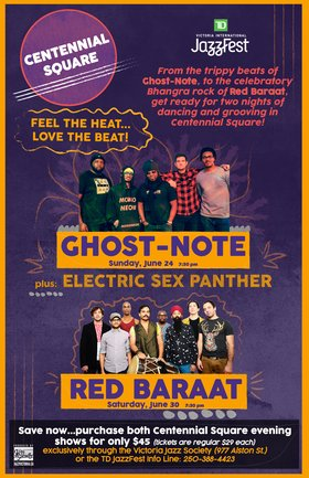 Ghost Note: plus, Electric Sex Panther @ Centennial Square Jun 24 2018 - May 20th @ Centennial Square