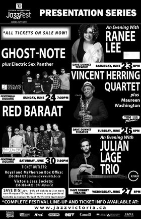 Vincent Herring Quartet: plus, Maureen Washington @ Dave Dunnet Theatre Jun 26 2018 - Mar 23rd @ Dave Dunnet Theatre