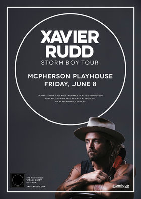 Xavier Rudd, Emmanuel Jal  @ McPherson Playhouse Jun 8 2018 - Dec 16th @ McPherson Playhouse