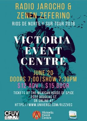 VEC and SocialCoast present:: Radio Jarocho & Zenen Zeferino @ Victoria Event Centre Jun 20 2018 - Dec 11th @ Victoria Event Centre