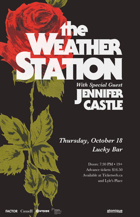 The Weather Station, Jennifer Castle @ Lucky Bar Oct 18 2018 - Jun 18th @ Lucky Bar