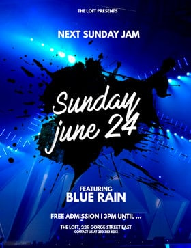Blue Rain Sunday Jam at the Loft: Blue Rain @ The Loft (Victoria) Jun 24 2018 - Dec 9th @ The Loft (Victoria)