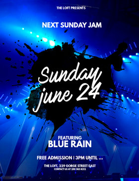 Blue Rain Sunday Jam at the Loft: Blue Rain @ The Loft (Victoria) Jun 24 2018 - Mar 23rd @ The Loft (Victoria)