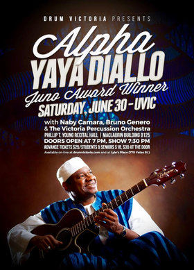 Alpha Yaya Diallo Concert @ UVIC - Phillip T. Young Recital Hall Jun 30 2018 - Mar 26th @ UVIC - Phillip T. Young Recital Hall