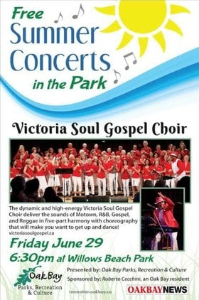 Victoria Soul Gospel Choir @ Willows Beach Park Jun 29 2018 - Mar 23rd @ Willows Beach Park