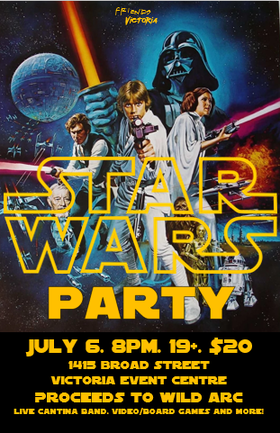 Star Wars Party Fundraiser: The Kenobi Quartet, The Modal Notes Tribute Band, Nick La Riviere @ Victoria Event Centre Jul 6 2018 - Feb 16th @ Victoria Event Centre