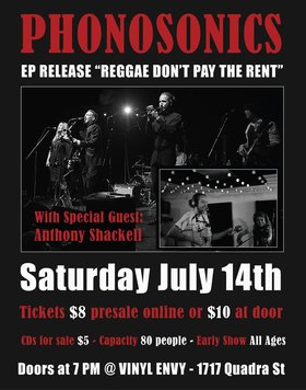 Phonosonics EP Release Party: Phonosonics, Anthony Shackell, Amy-Lynne Toth @ Vinyl Envy Jul 14 2018 - Dec 10th @ Vinyl Envy
