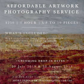 Affordable Drop-In Art Photography Service: Cedar Coast Photography @ Cook Street Village Activity Centre Jul 29 2018 - Feb 19th @ Cook Street Village Activity Centre