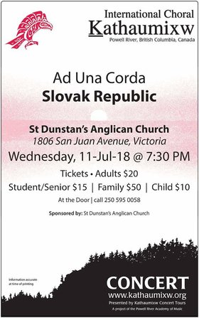 Award-winning choir: Ad Una Corda, Slovak Choir @ St Dunstan