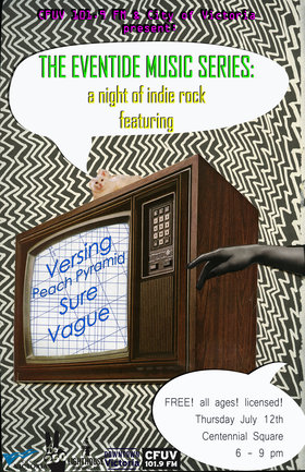 Eventide Music Series: Indie Rock night: Versing  , Peach Pyramid, SURE, Vague @ Centennial Square Jul 12 2018 - Feb 16th @ Centennial Square