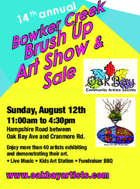 14th Annual Bowker Creek Brush Up - Art Show and Sale @ Along Bowker Creek - Hampshire Road Aug 12 2018 - Feb 22nd @ Along Bowker Creek - Hampshire Road