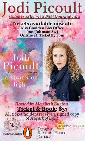 Jodi Picoult presents A Spark of Light: Jodi Picoult @ Alix Goolden Performance Hall Oct 18 2018 - May 19th @ Alix Goolden Performance Hall