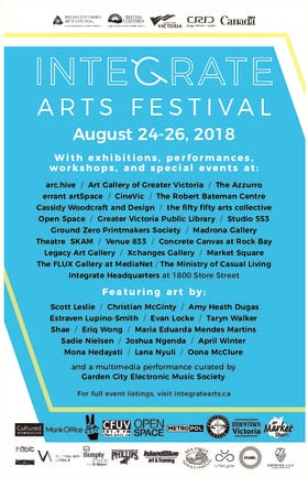 12th Annual Integrate Arts Festival @ 1800 Store Street Aug 24 2018 - Feb 22nd @ 1800 Store Street