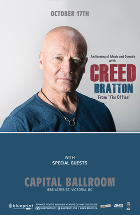 Creed Bratton  (of The Office) @ Capital Ballroom Oct 17 2018 - May 19th @ Capital Ballroom