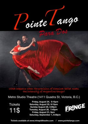 Para Dos at the Victoria Fringe Festival 2018: Presented by PointeTango @ Metro Studio Aug 24 2018 - Jan 18th @ Metro Studio