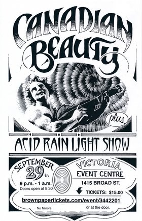 Canadian Beauty plus Acid Rain Light Show: Canadian Beauty (Grateful Dead tribute), Acid Rain Light Show @ Victoria Event Centre Sep 29 2018 - Aug 22nd @ Victoria Event Centre