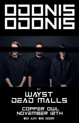 the fifty fifty arts collective presents: Odonis Odonis, Wayst, Dead Malls @ Copper Owl Nov 12 2018 - Apr 19th @ Copper Owl