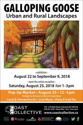 Galloping Goose: Urban and Rural Landscapes @ Coast Collective Art Centre Aug 22 2018 - Feb 22nd @ Coast Collective Art Centre