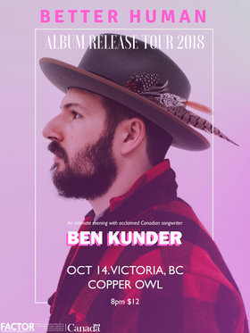 Ben Kunder , Sarah Osborne @ Copper Owl Oct 14 2018 - Jun 17th @ Copper Owl