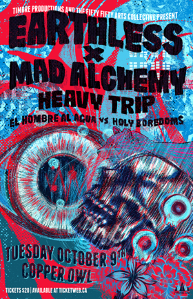 Earthless, Mad Alchemy Light show, Heavy Trip, Holy Boredoms VS El Hombre Al Agua @ Copper Owl Oct 9 2018 - Jun 17th @ Copper Owl
