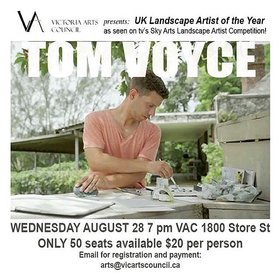 Tom Voyce - UK Landscape Artist of the Year: Tom Voyce  @ Victoria Arts Council Aug 29 2018 - Feb 22nd @ Victoria Arts Council