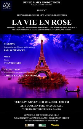 La Vie En Rose: Pablo Diemecke, Tony Booker, Ashley Evans, Ian Szkolak @ Alix Goolden Performance Hall Nov 20 2018 - Mar 23rd @ Alix Goolden Performance Hall