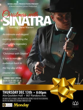 Christmas with Sinatra: Dane Warren @ Alix Goolden Performance Hall Dec 13 2018 - Dec 13th @ Alix Goolden Performance Hall