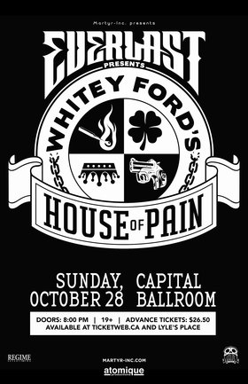 Everlast, Plus Guests @ Capital Ballroom Oct 28 2018 - Mar 25th @ Capital Ballroom