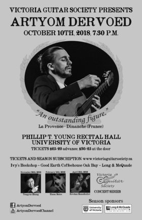 Artyom Dervoed Guitar Recital: Artyom Dervoed @ Phillip T. Young Recital Hall (Uvic) Oct 10 2018 - May 19th @ Phillip T. Young Recital Hall (Uvic)