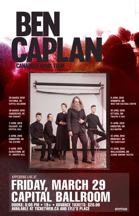 Ben Caplan, Plus Guests @ Capital Ballroom Mar 29 2019 - Mar 20th @ Capital Ballroom