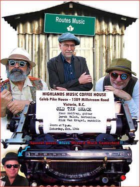Highlands Music Coffee House is delighted to present the band: The Old Tin Shack @ Caleb Pike House Oct 13 2018 - Feb 20th @ Caleb Pike House