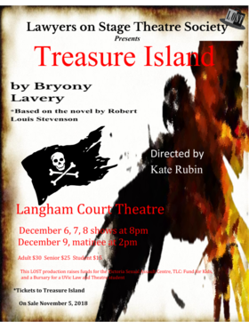 Treasure Island @ Langham Court Theatre Dec 7 2018 - Dec 13th @ Langham Court Theatre
