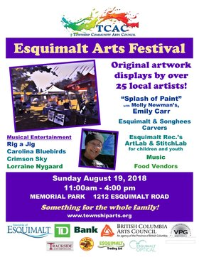 Esquimalt Arts Market @ Memorial Park  Aug 18 2018 - Dec 12th @ Memorial Park