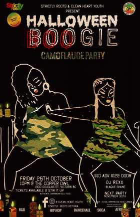 Strictly Roots and Clean Heart present Halloween BOOgie: DJ Rexx, Blaque Shane @ Copper Owl Oct 26 2018 - May 19th @ Copper Owl
